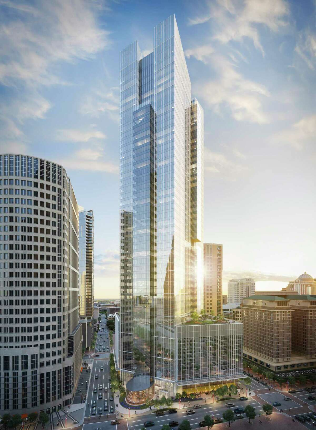 Hines and Ivanhoé Cambridge are developing Texas Tower, a 47-story office building at 845 Texas Ave. with numerous common areas for working and relaxing.