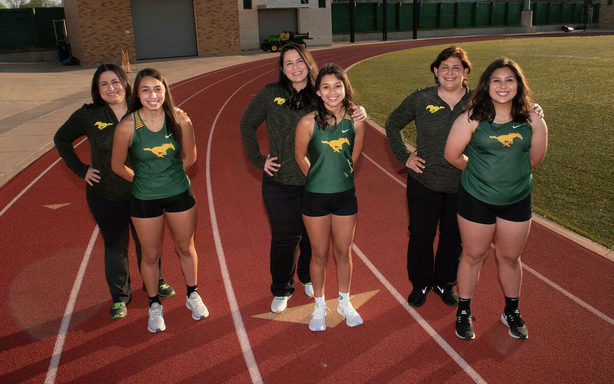 Cousins Alyssa Guerra, Mia Cervantes and Brenna Gutierrez are following in the footsteps of their mothers Amy Guerra, Isa Guerra and Ida Gutierrez, respectively, by running for the Nixon track & field team.