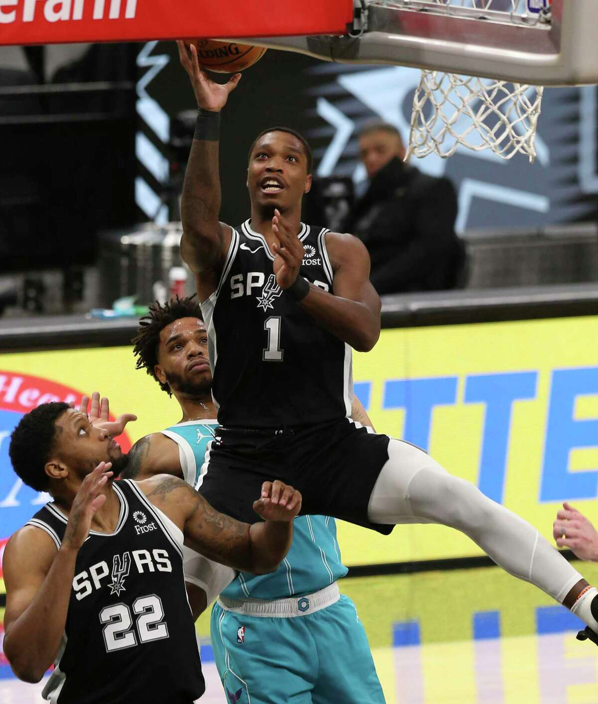 """The Spurs were happy to have Lonnie Walker IV back in the lineup Friday night. """"It gives us another 3-point shooter and somebody who can attack the bucket,"""" coach Gregg Popovich said."""