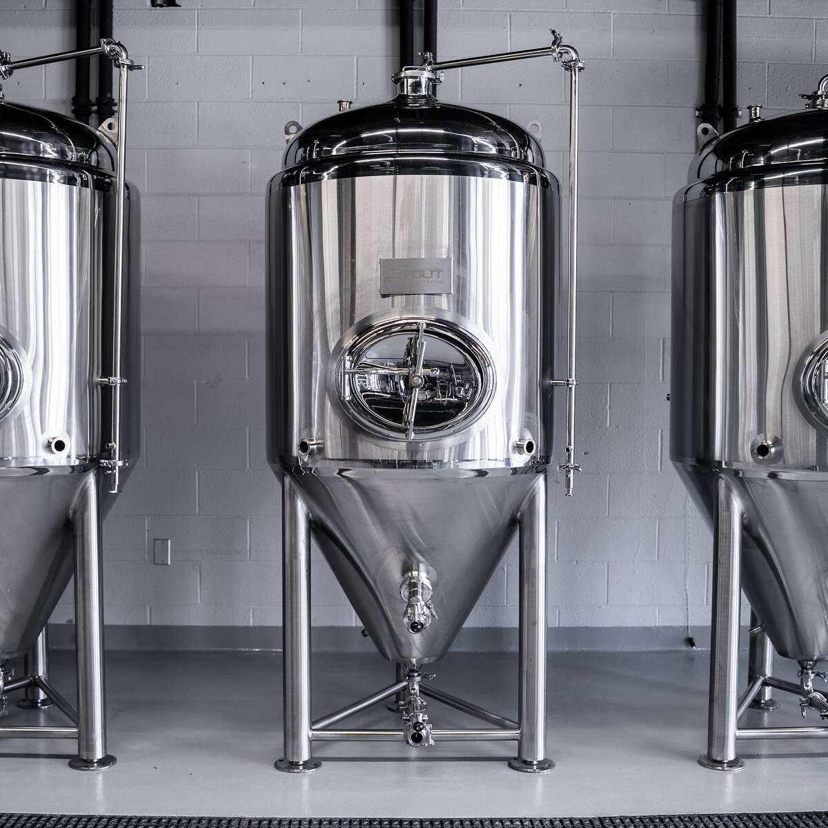Brew tanks at Mixed Breed Brewing, due to open in mid-April in Guilderland Center. (Provided photo.)