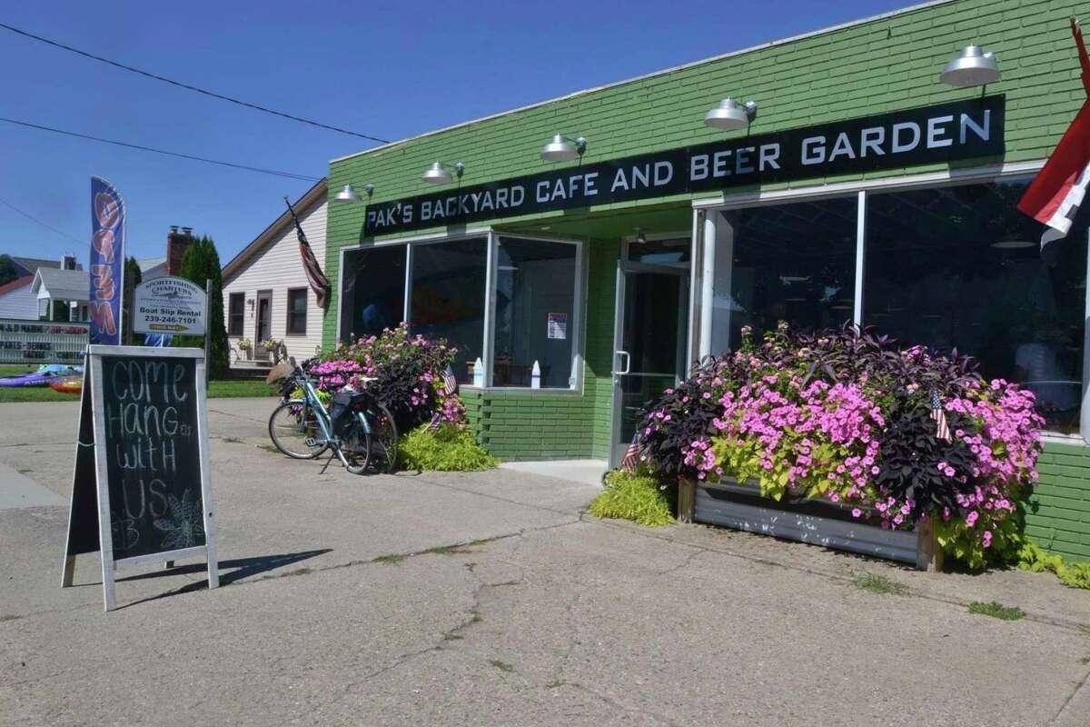 Pak's Backyard Restaurant and Beer Garden in Port Austin, located next to Port Austin Kayak. The restaurant has been open since 2013. (Tribune File Photo)