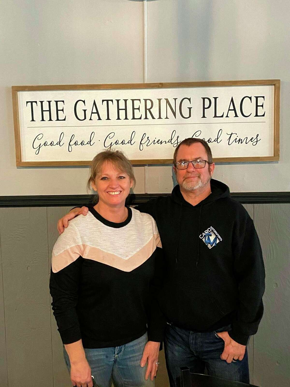 Lisa and Brian Enos are leasing the Oasis Tavern in downtown Caro with an option to buy. They made a few basic changes and improvements, but overall the 1900s ambiance of the place remains the same. (Courtesy Photo)