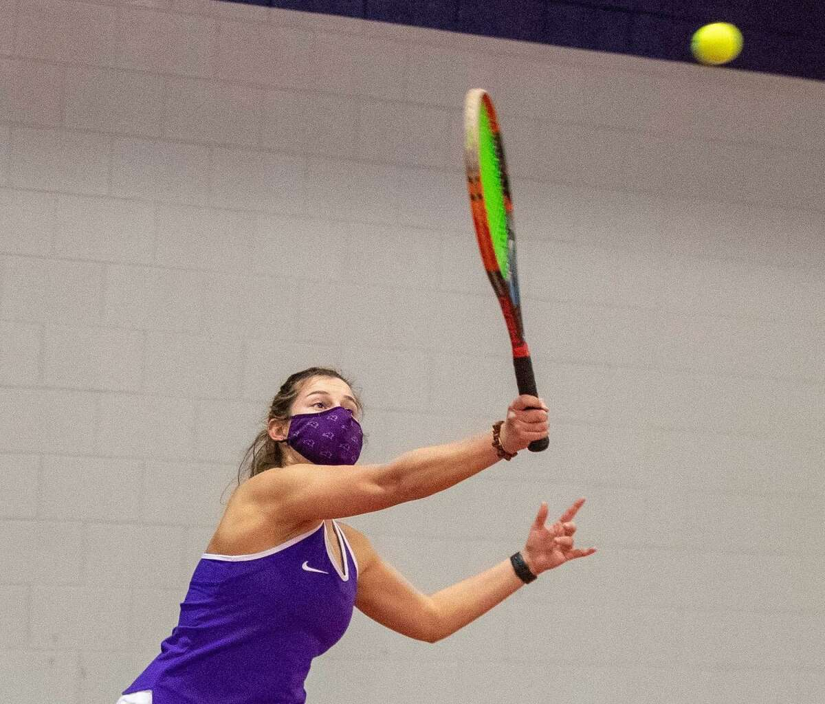Zoe Rogers is in her first season playing tennis at St. Michael's College.