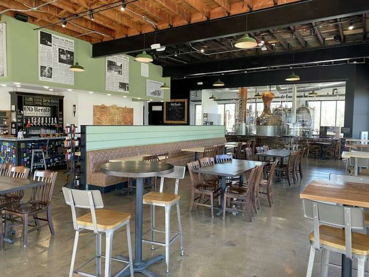 At the Old Herald Brewery and Distillery, in Collinsville, tables are six feet apart and event space is limited to approximately 45 people. Pre-pandemic events accommodated up to 75 people.