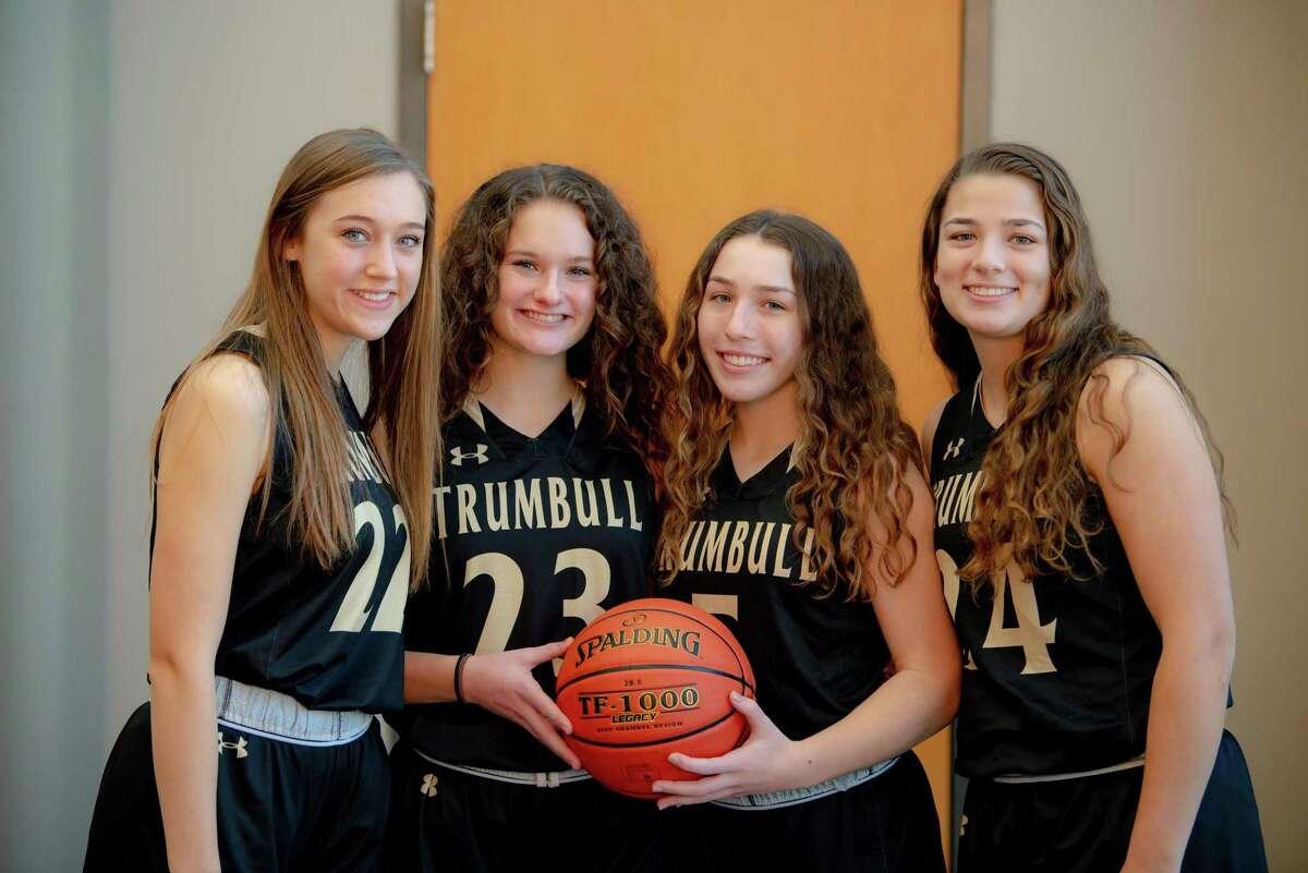Julia Lindwall, Grace Lesko, Amanda Ruchalski and Cassi Barbato are Trumbull team captains.