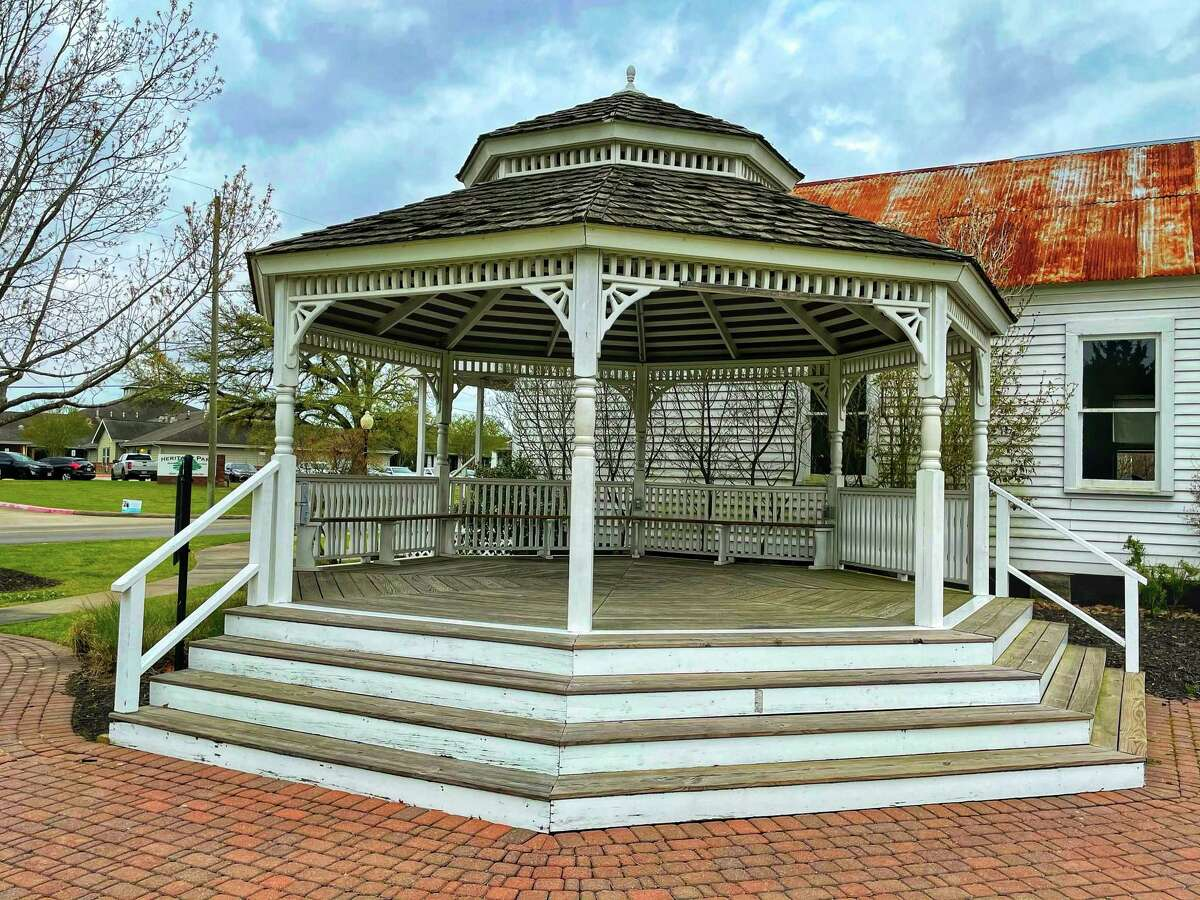 The Katy Heritage Park bandstand on March 22, 2021.