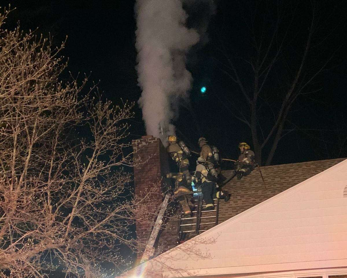 Shelton firefighters battled a chimney fire at a Birchbank Road home Friday, March 19.