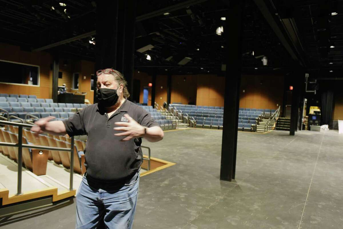 Philip Morris, CEO of Proctors, gives a tour of the new Capital Repertory Theatre on Tuesday, March 23, 2021, in Albany, N.Y. (Paul Buckowski/Times Union)