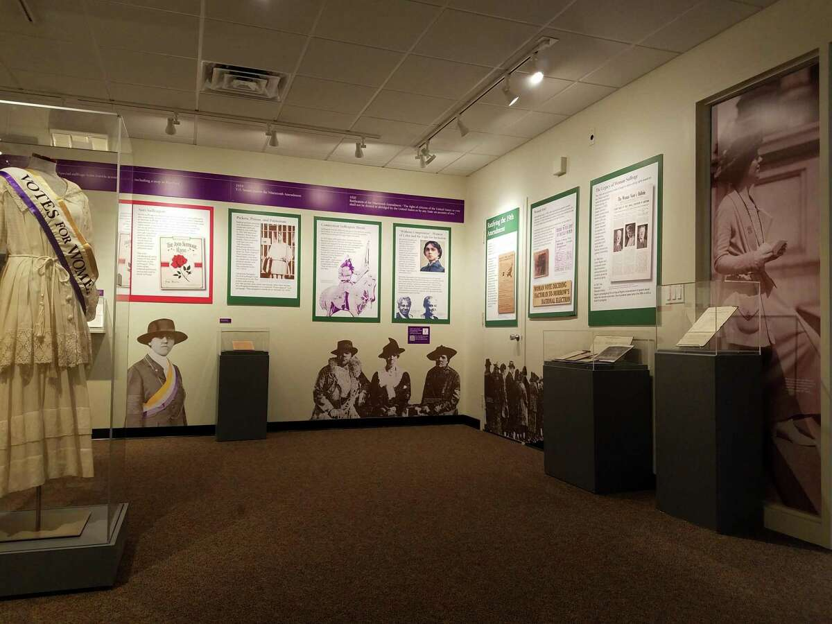 The Connecticut Historical Society has an exhibit on the long fight for women to secure the right to vote.