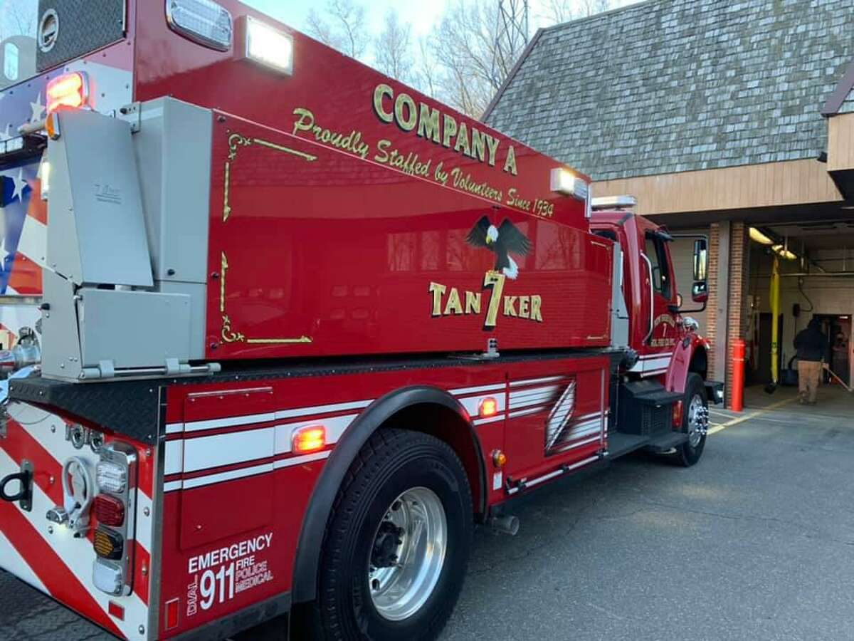 New Fairfield Volunteer Fire Department's new Tanker 7 arrived Friday, March 19, 2021.