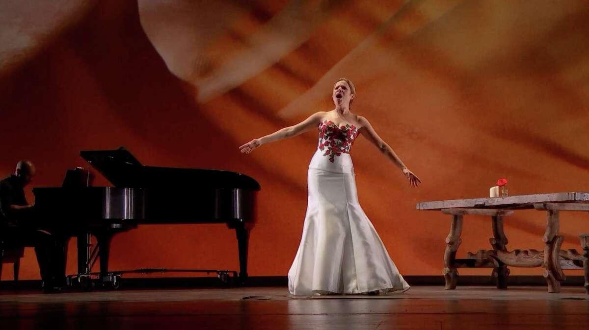 "Houston Grand Opera Artistic Advisor and soprano Ana María Martínez performs in the opera's ""Suite Espanola: Explorando Iberia."""