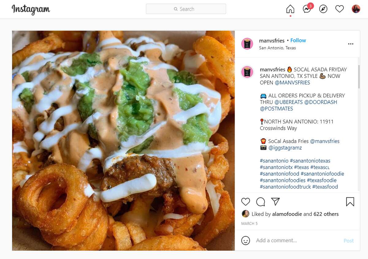 Man vs. Fries, which operates a lengthy list of pop-ups throughout the country under the aforementioned credo, opened a San Antonio location earlier this month at 11911 Crosswinds Way.