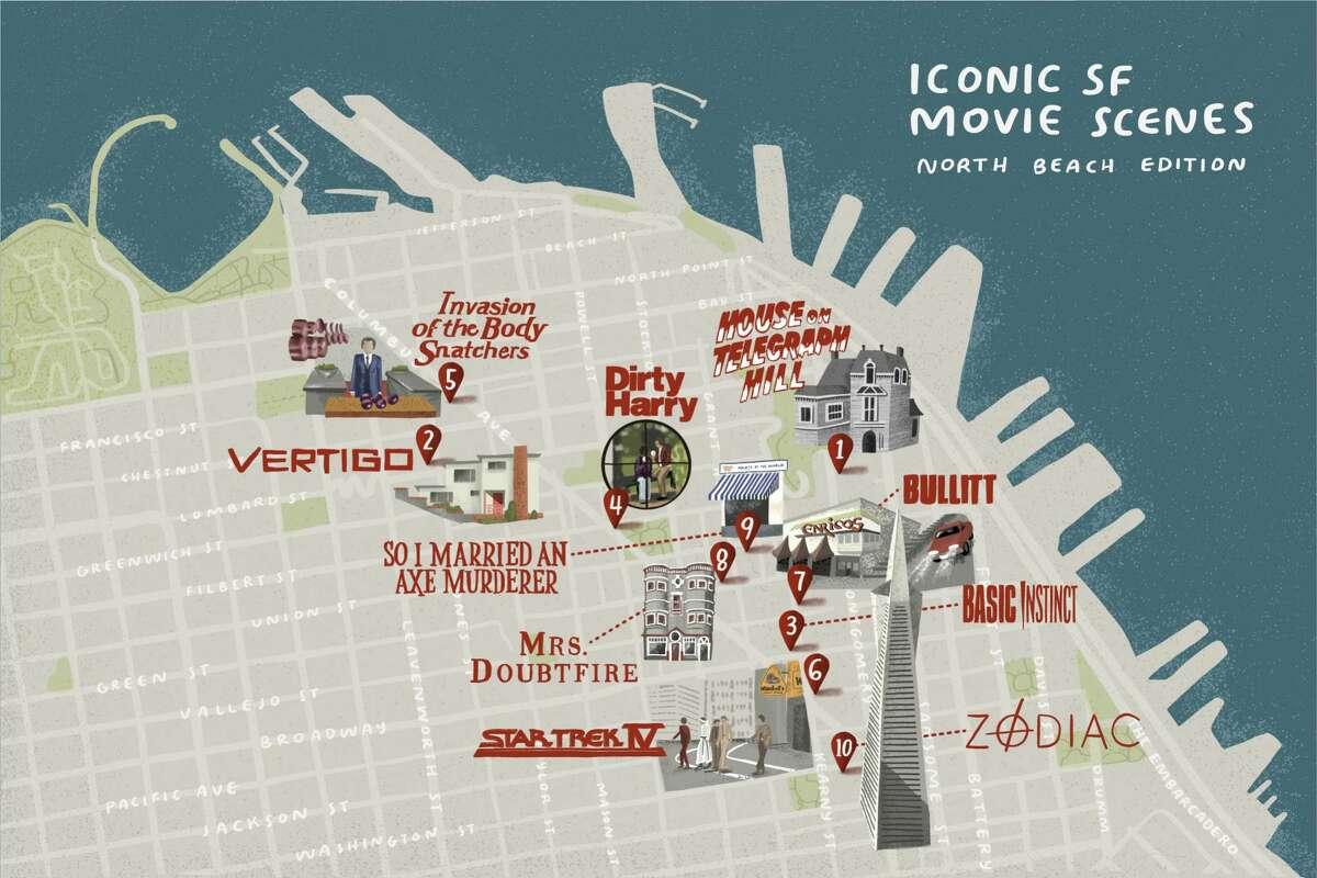 North Beach movie map