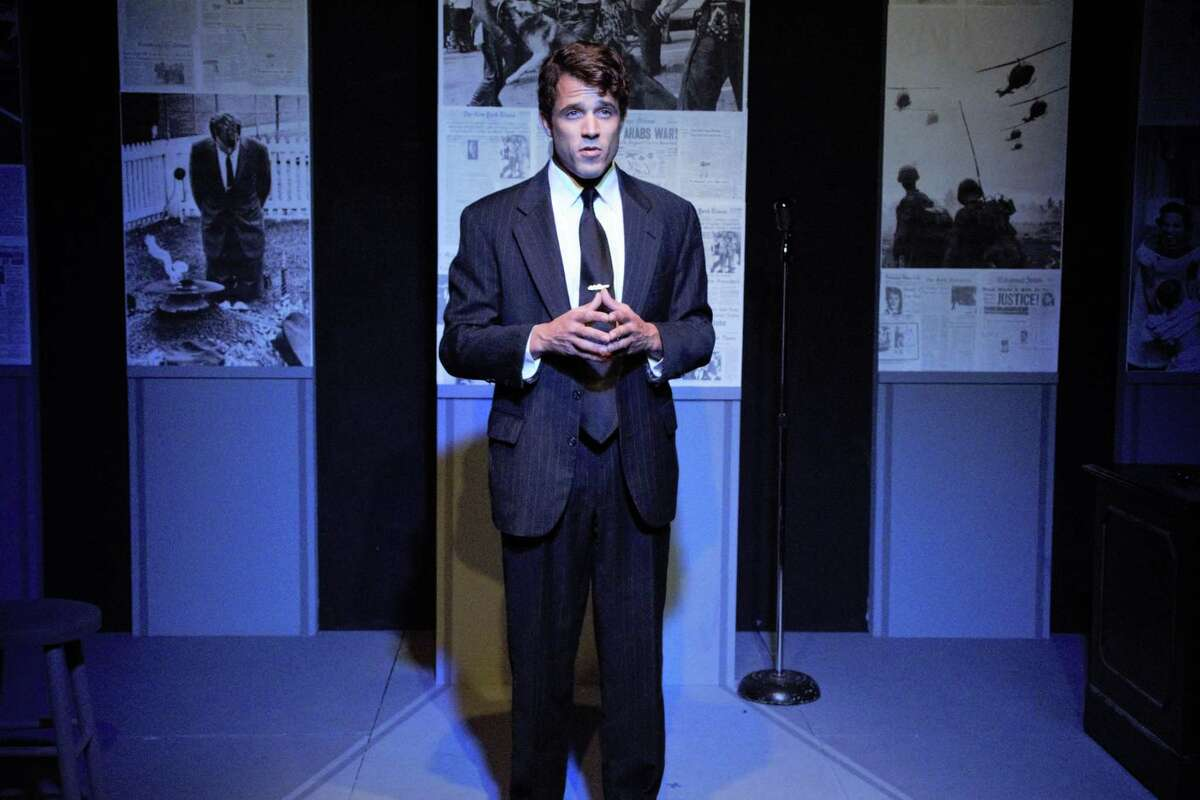 """Music Theatre of Connecticut staged """"RFK"""" with actor Chris Manuel as Robert F. Kennedy during the pandemic."""
