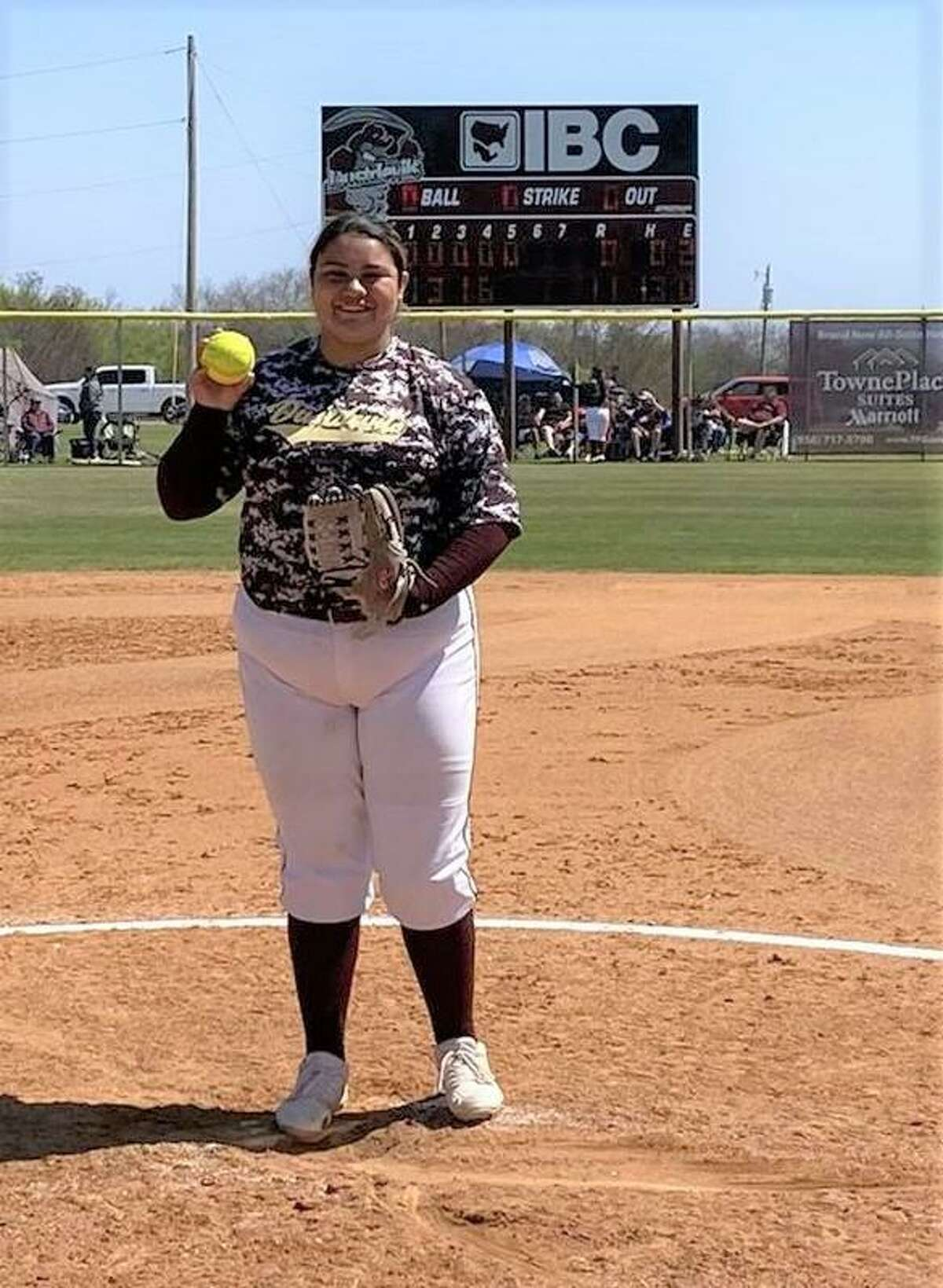 TAMIU's Erika Cortez recorded nine strikeouts Sunday while completing the first perfect game in program history as the Dustdevils won 11-0 against Eastern New Mexico in five innings.