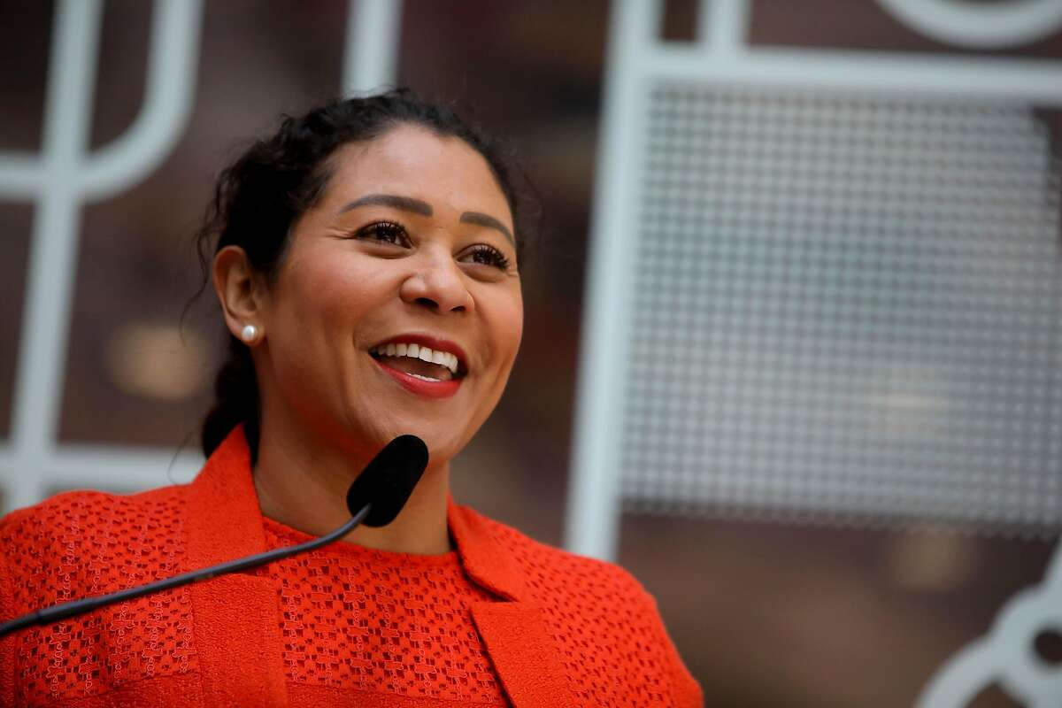 """With the federal stimulus, Mayor London Breed said, S.F. can """"make investments in our recovery"""" instead of cutting jobs."""