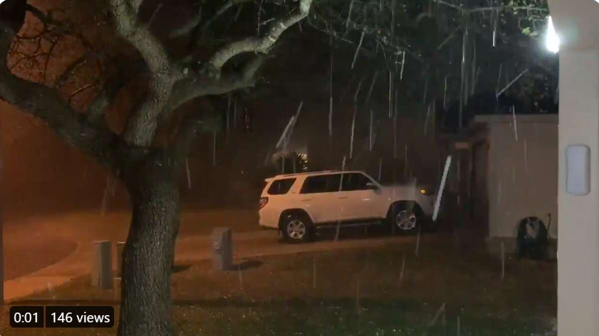 Quarter-size hail spotted in Boerne, Texas.