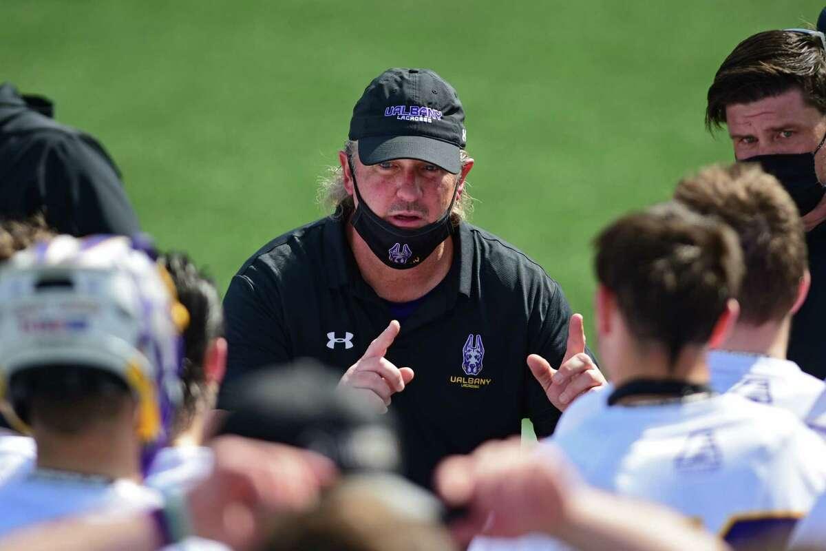 University at Albany men's lacrosse coach Scott Marr said it won't be a tough adjustment to have Tehoka Nanticoke out of the lineup. (Lori Van Buren/Times Union)