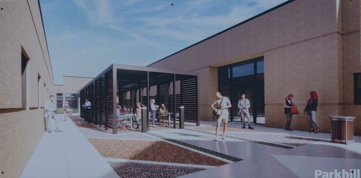 Renderings of the expansion building on Midland College campus of the new Texas Tech University Health Sciences Center seen 03/23/21 during a ground breaking ceremony. Tim Fischer/Reporter-Telegram