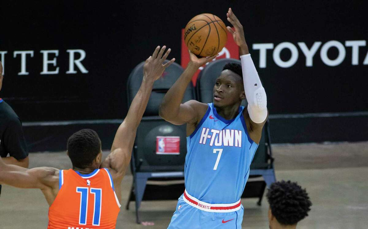 Victor Oladipo,who will be a free agent at the end of the season, is the Rockets' player mentioned most in trade talks.