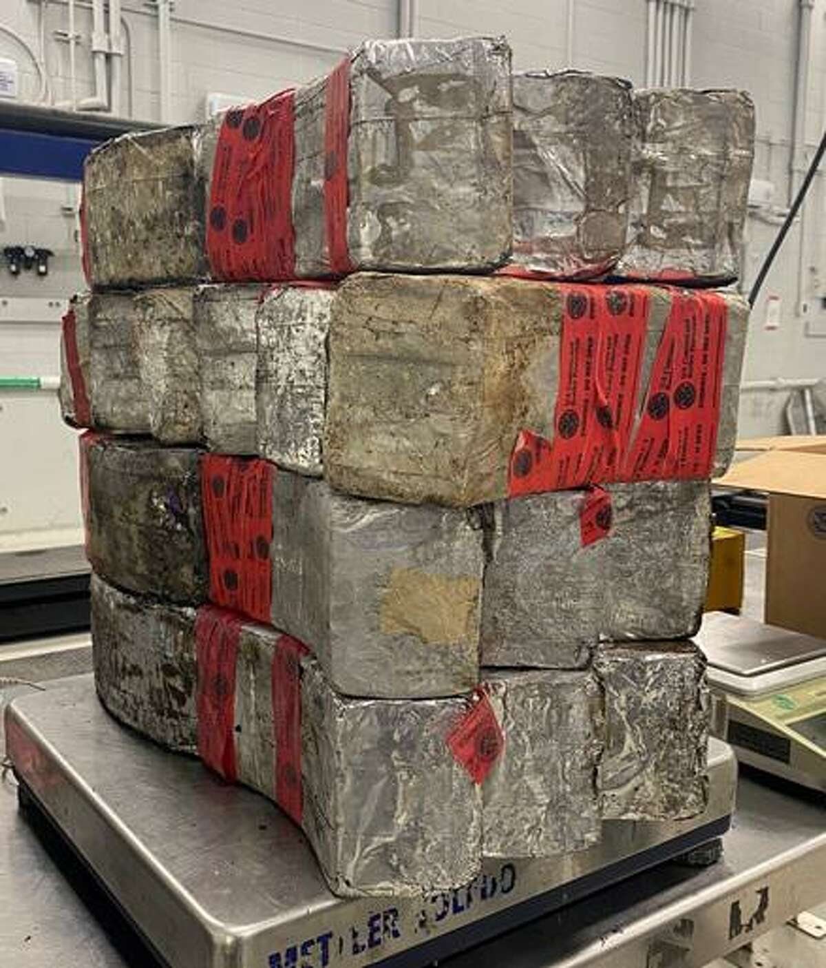 U.S. Customs and Border Protection officers said they seized these 132.36 pounds of meth valued at about $2.6 million at the Juarez-Lincoln International Bridge. One person has been indicted in connection with the case.