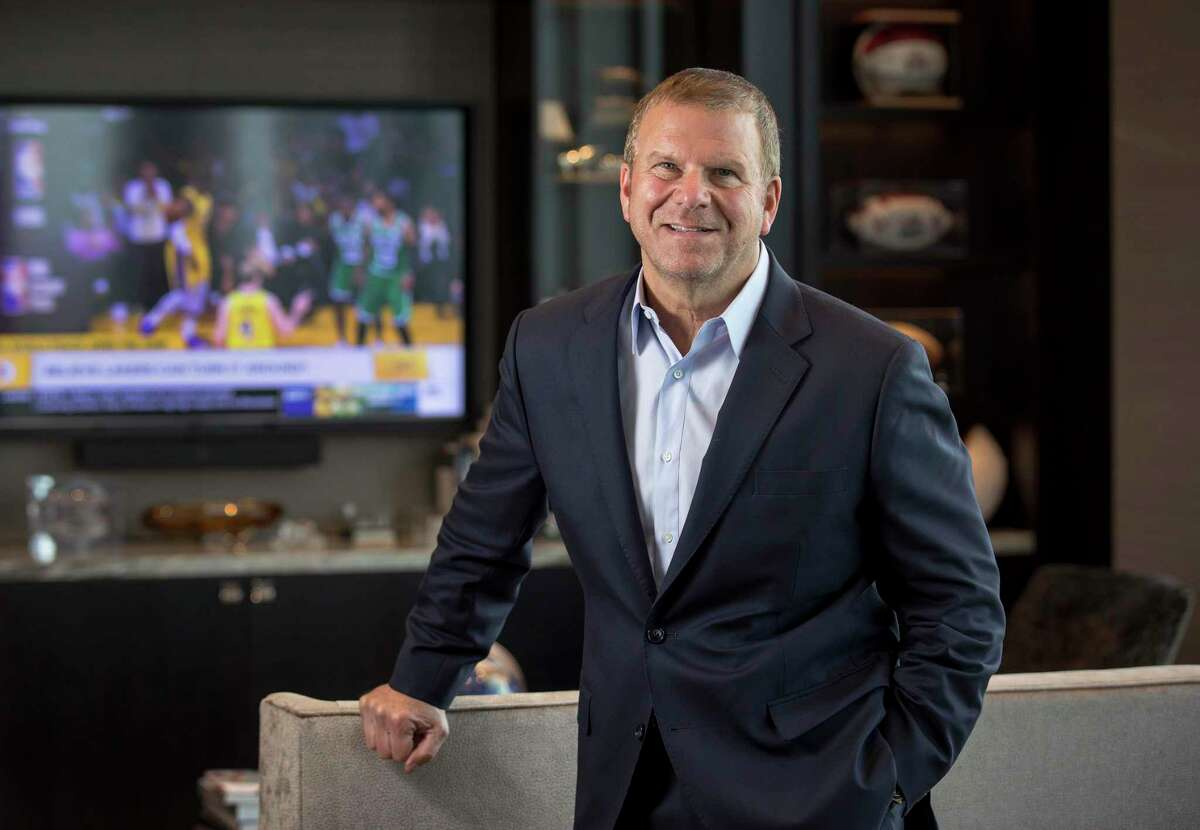 Tilman Fertitta, owner of Landry's, Inc., and the Houston Rockets, poses for a portrait in his office on Tuesday, May 28, 2019, in Houston.