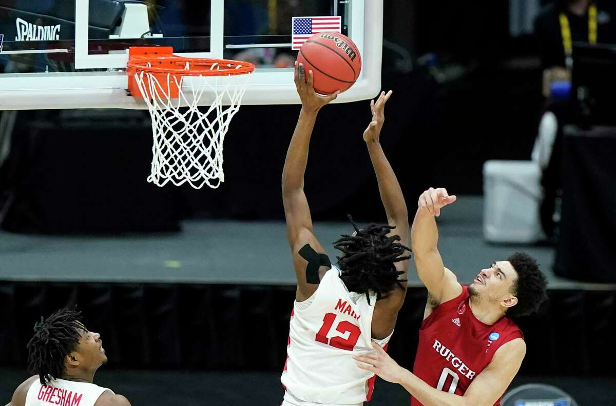Tramon Mark tips in what proved to be the winning points against Rutgers on Sunday.