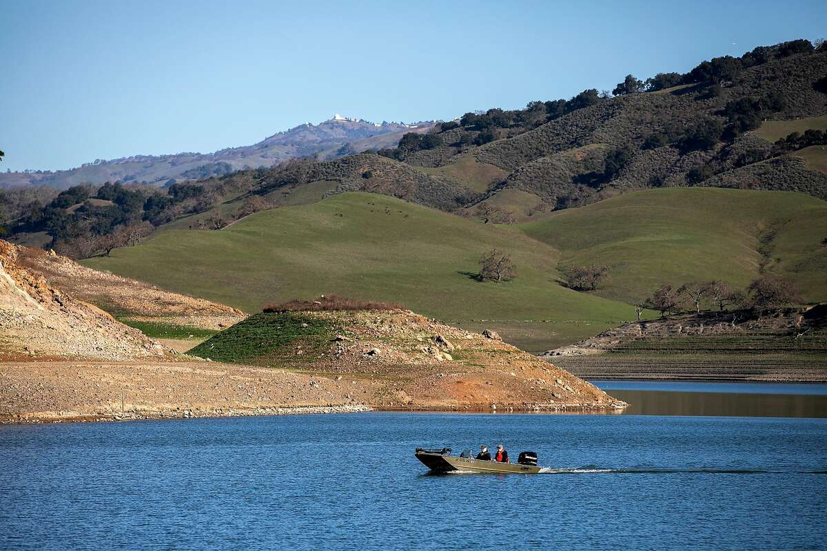 Boaters use Anderson Lake Reservoir on Tuesday, Feb. 25, 2020 in Morgan Hill, Calif.