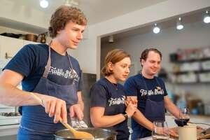Truffle Shuffle founders, from left, Tyler Vorce, Sarah McKinney and Jason McKinney.