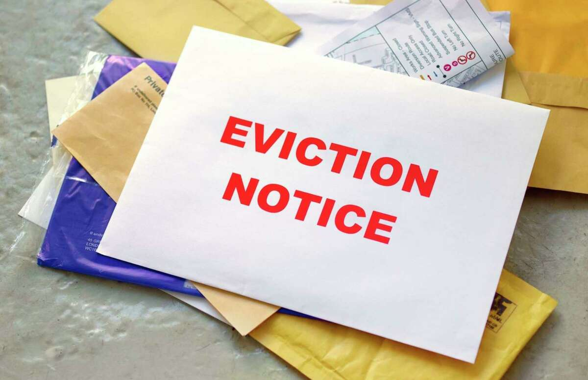 An eviction notice is pictured. (Photo courtesy of Getty Images)