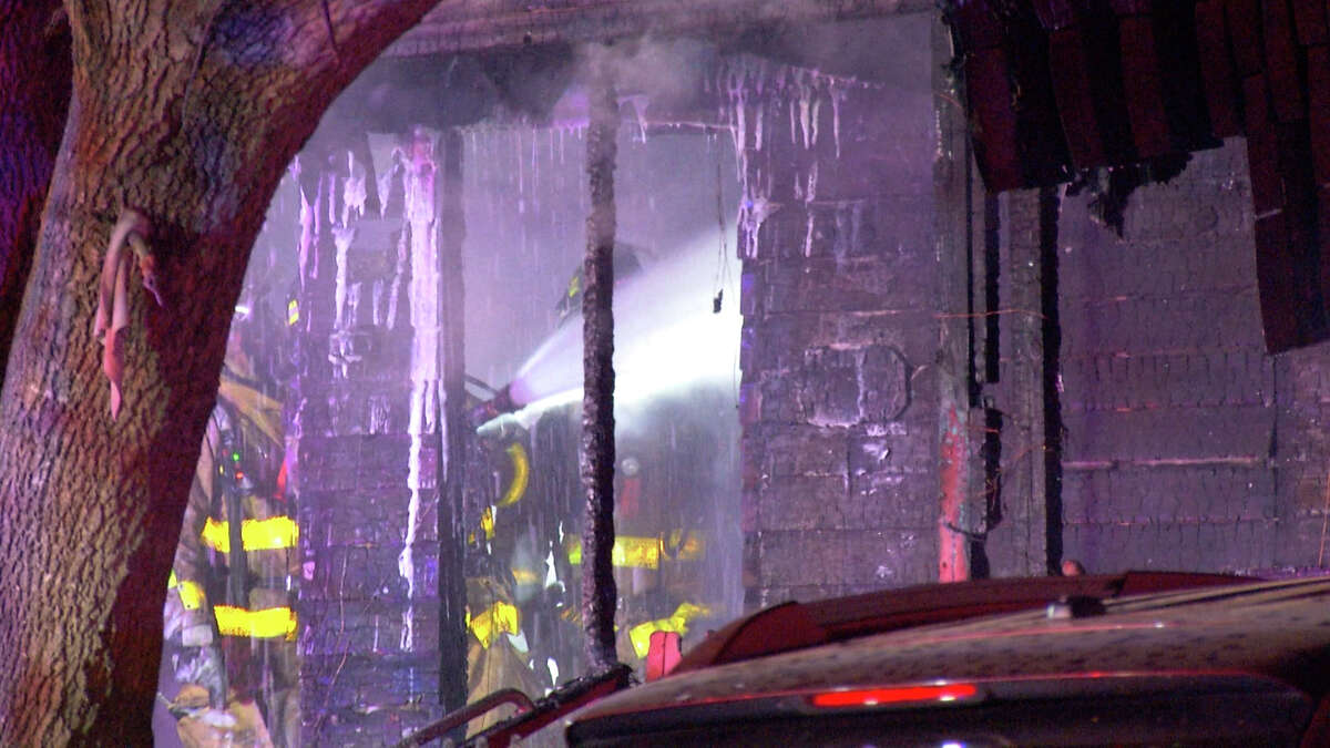 An elderly woman died after a fire started in a home at the 700 block of Runnels Avenue early Wednesday morning.