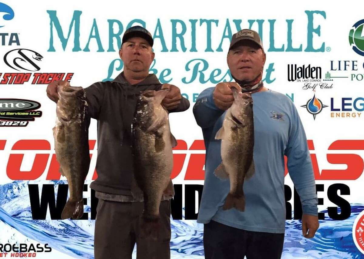 David Bozarth and Russell Cecil - 16.39 claimed second place in the CONROEBASS Tuesday Tournament with a total weight of 16.39 pounds.