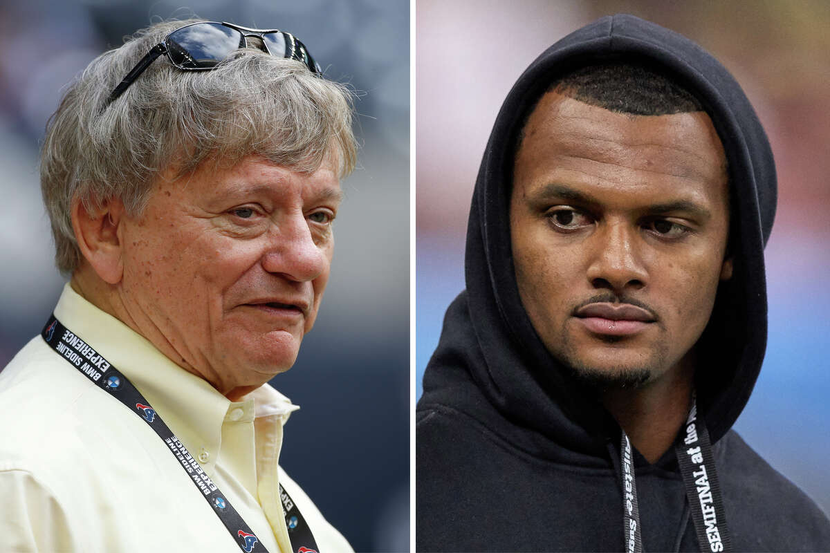 Attorney Rusty Hardin and Texans quarterback Deshaun Watson, Hardin's client, are pictured together in this composite photo.