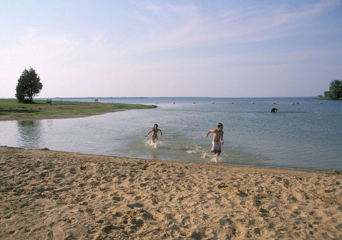Lake Tawakoni State Park, 50 miles east of Dallas, gives kids and adults a good cooling off spot at a spacious swimming beach.