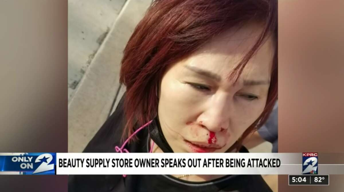 An Asian beauty supply store owner was attacked in Houston on St. Patrick's Day.