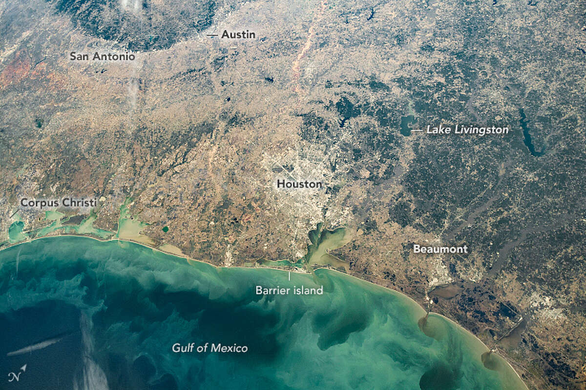 """A photo taken on Christmas Day is now circulating online after it was named the """"Image of the Day"""" by the NASA Earth Observatoryon Sunday. The photo, which has not undergone much editing, shows the gulf as well as San Antonio and Austin. The shot was taken from an International Space Station window by a member of the Expedition 64 crew, according to the observatory site."""