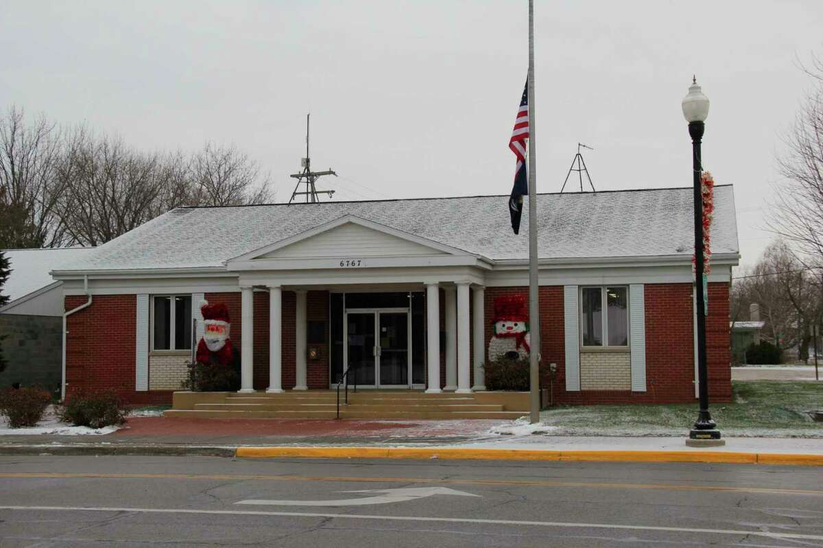 Caseville City Hall, which will be closed to the public for the time being due to rising COVID-19 cases in Huron County. (Tribune File Photo)