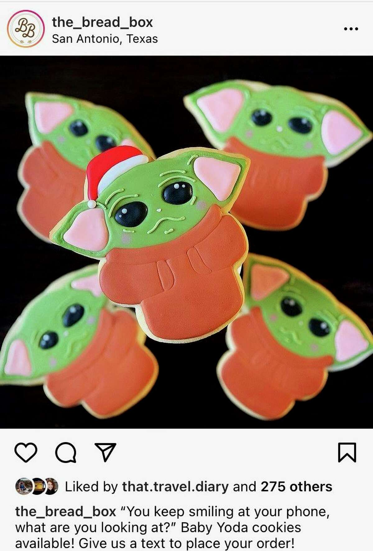 These Baby Yoda cookies turned into a viral Instagram post for The Bread Box and led to the sale of more than 10,000 cookies nationwide.