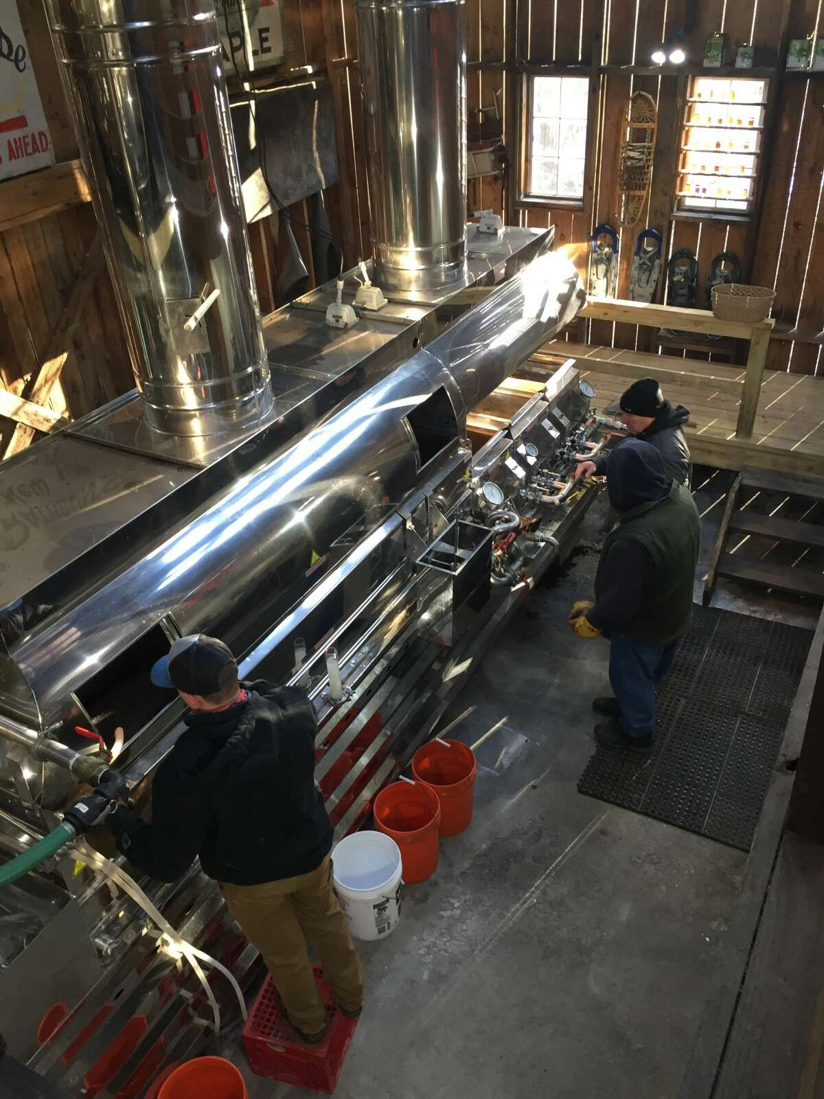 Rathbuns Maple Sugar House in Whitehall makes maple syrup on March 20 in this photo from Scott Ziegler of East Greenbush