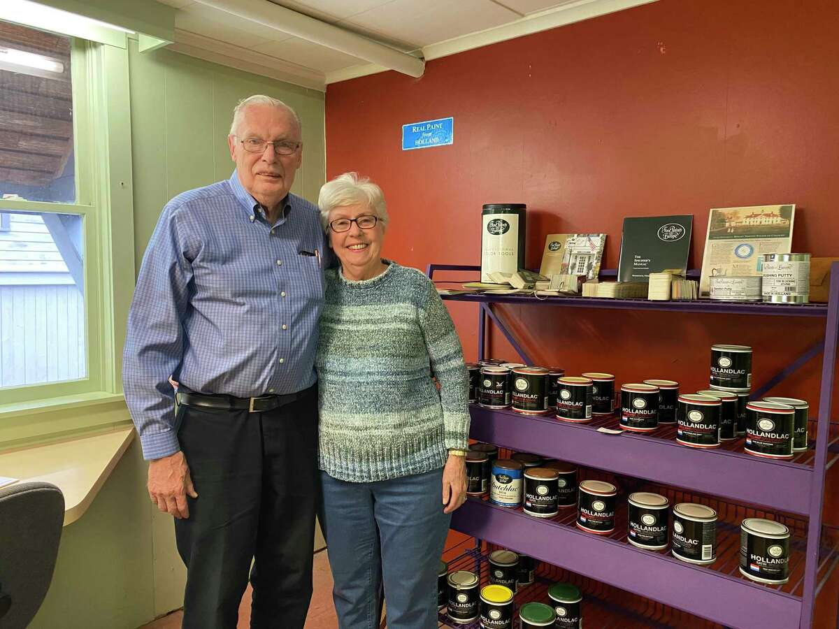 John Winter and his wife Ann at Litchfield Paint & Wallpaper