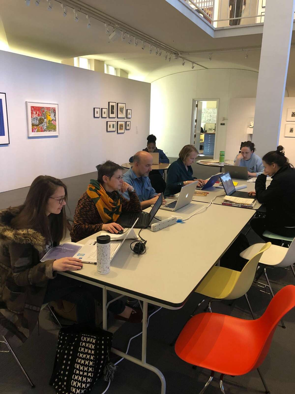 A scene from last year's in-person Edit-a-thon
