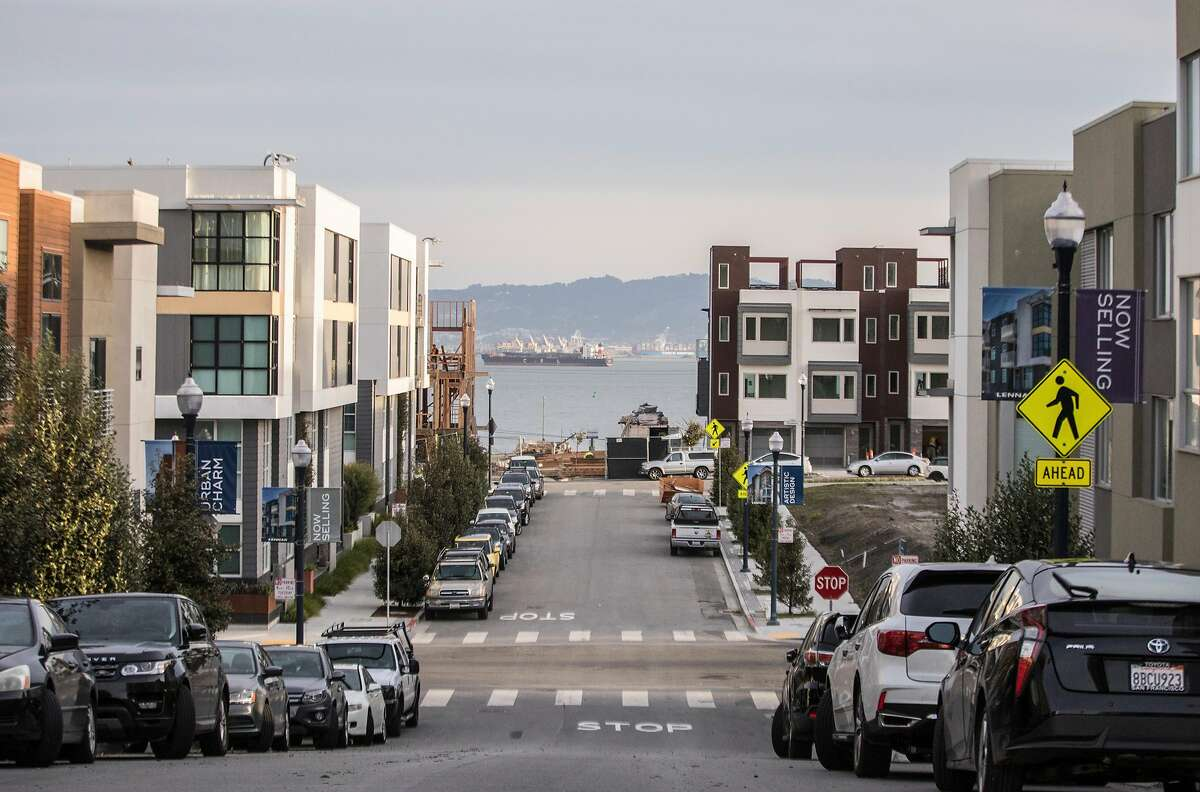 The hilltop housing area at the former Hunters Point Naval Shipyard on Wednesday, Nov. 28, 2018, in San Francisco, Calif.