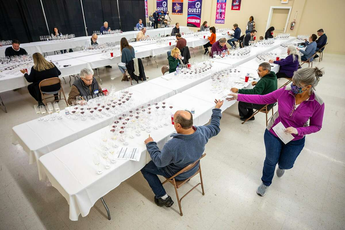 More than 50 judges gathered at the Cloverdale Citrus Fair to judge over 5,600 North American wines.