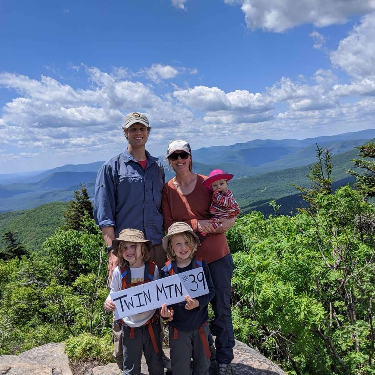 Last year, the Kralick family hiked the highest peaks of the Catskills in five months when their twin boys were four. Their baby girl rode the whole way on her mom's back. The family then summited the same peaks in winter, minus the baby in tough conditions, as they prepared to finish climbing the 46 highest Adirondacks peaks by this June. Photo: @mountainmama_amk
