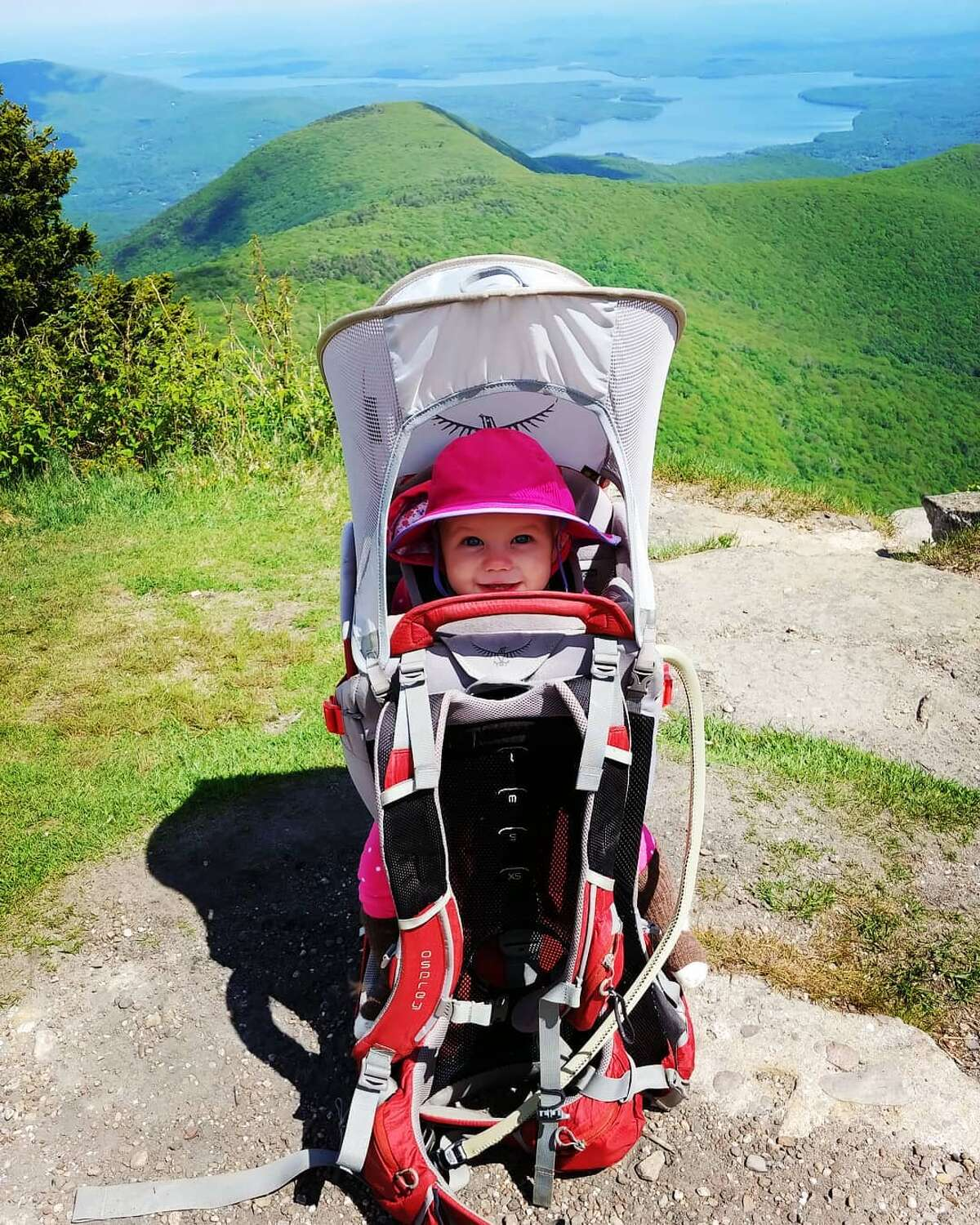 Kralick carried her baby on her front in acarrier until she was 6 months old. Then she graduated to an Osprey Poco Plus Backpack Carrier, with lots of storage, a sun shade/rain cover system, and a robust structure for her safety. On overnight trips the baby has her own foldable tent for her safe sleeping inside their larger tent and a zip-on sleeping bag. She generally wears one layer more than the family since she isn't moving. Photo: @mountainmama_amk