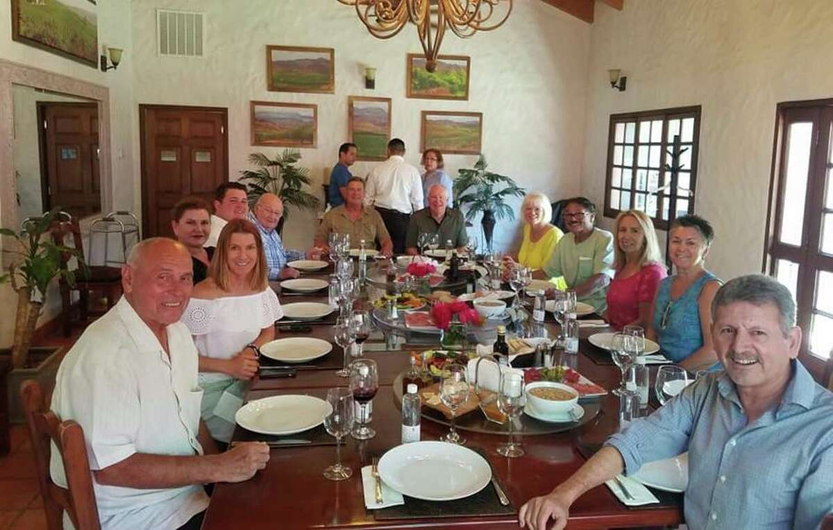 The San Francisco Chronicle Wine Competition hosted a visit to Valle de Guadalupe in 2019 and enjoyed lunch at L.A. Cetto.