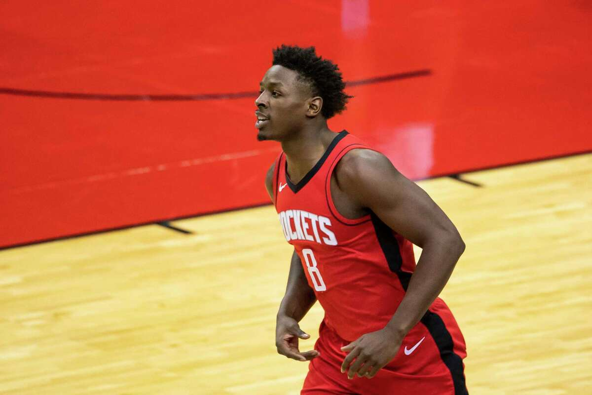 With the Rockets, Jae'Sean Tate has missed just two games, one with a sore knee and one after a false positive COVID test.