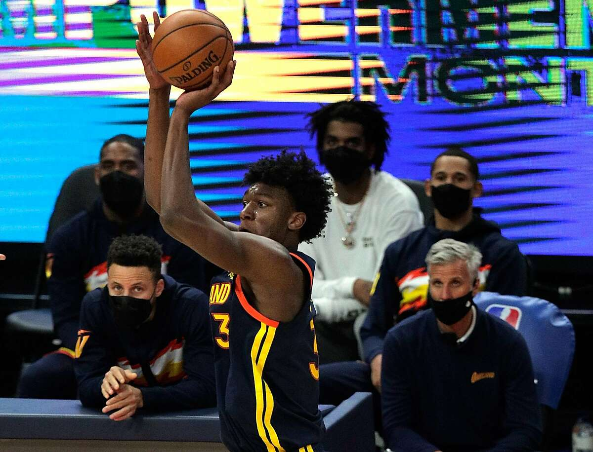 The Warriors' James Wiseman averaged 11.5 points and 5.8 rebounds per game as a rookie.