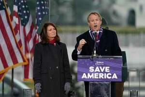 "Texas Attorney General Ken Paxton speaks Jan. 6, 2021, at the ""Save America Rally"" that was held in support of President Donald Trump in Washington, D.C."