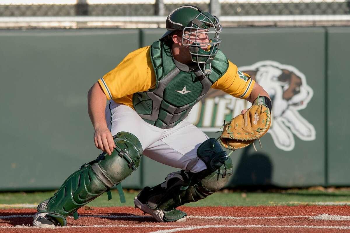 Siena catcher Willie Schwarick hit a home run in his first college at-bat.
